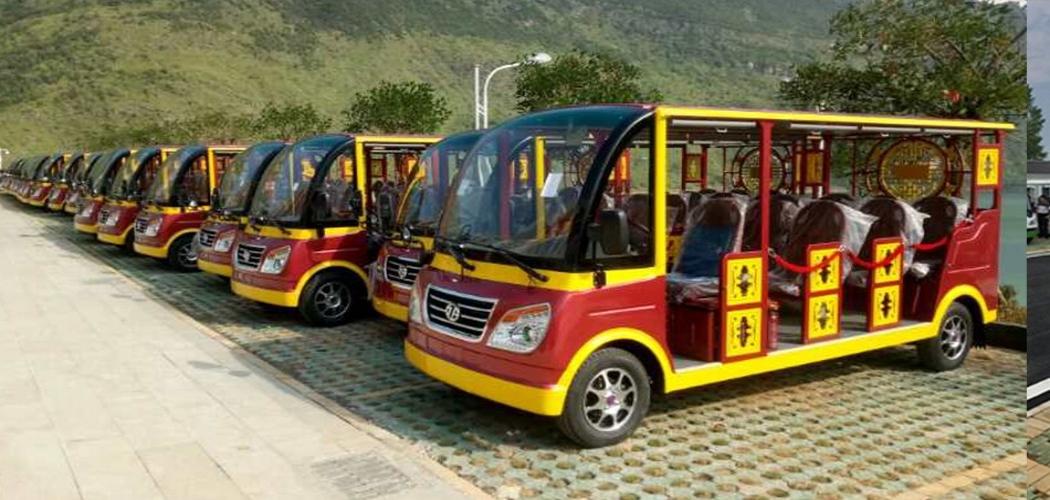 贵州牂牁江风景区11座燃油观光车案例图片