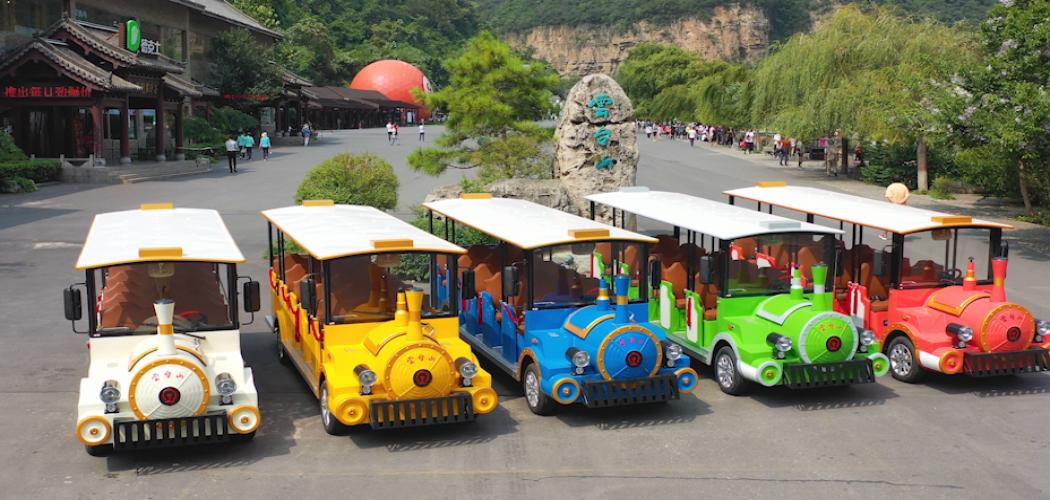 云南云台山旅游景区观光小火车案例