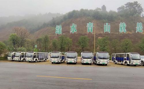 广西南宁高峰森林公园观光车报价及观光车图片