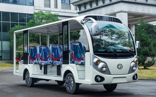 贵州忠辉14座电动观光车-超越款图片参数介绍