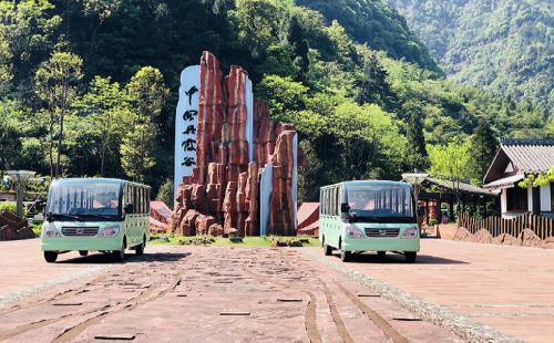 相同视角不同心情,yabosports官网23座景区观光车为您护航